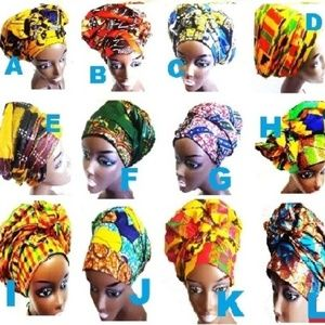Accessories - African Fabric prints Kente Ankara Head Wrap